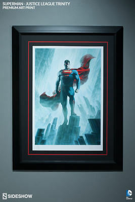 Sideshow Superman Justice League Trinity Premium Art Print Framed #163/750