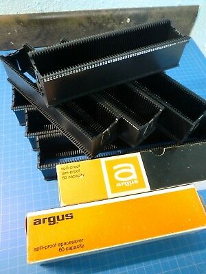 Lot of 7 Argus slide tray magazines 4 - 60s  3 - 80s  6 boxes