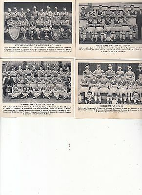 Wolverhampton, West Ham, Everton, Birmingham Football Team Photo 1958-59 Season