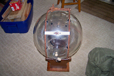 Old Pyrex Glass Milk Receiving Ball With Graduations, About 8 Gal, Surge Milker?