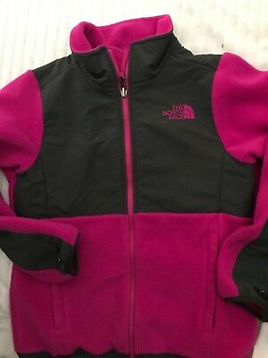 Girls The North Face Pink  Full Zip Fleece Jacket Size Youth Medium 10/12