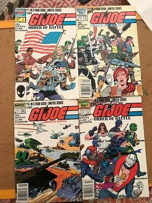G.I. Joe Yearbook # 1,2,3,4 1985 - 1987. VF + All you need to know about Joe