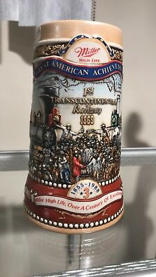 Miller Beer Stein Great American Achievements Transcontinental Railway CL26-1