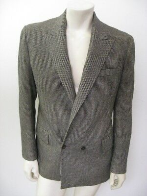 Vintage 1960s MR FISH London Two-Piece Houndstooth Suit Razor Blade Lining