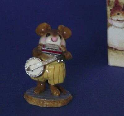 WEE FOREST FOLK M-196a One Mouse Band  retired circa 1999-2003 mustard pants