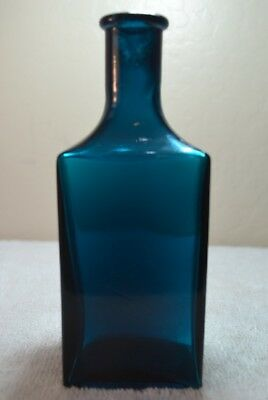 Vintage Hall's Hair Renewer Bottle, Deep Teal Green from the late 1800's