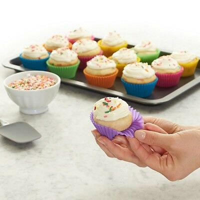 10PC Cupcake Mold Silicone Baking Cups Mould Muffin Chocolate Liner Cases Holder