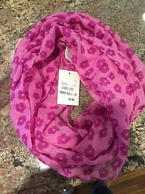 Tucker and Tate Pink Floral Infinity Scarf
