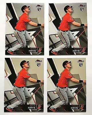 2018 Topps Finest Austin Hays RC Lot(4) Base Rookie Card Orioles #11