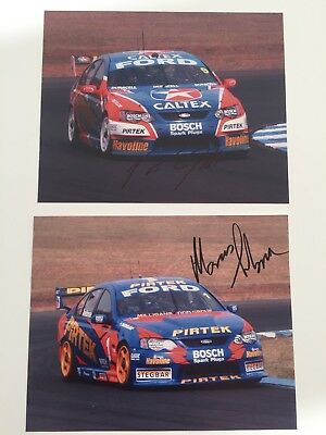 Ingall/Ambrose Signed Photos Stone Brothers Racing Fords Pirtek/Caltex