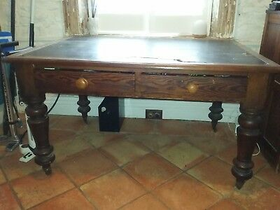 Antique Timber Writing Desk