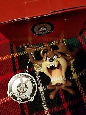 NIB Goebel Looney Tunes Taz Tasmanian Devil Snow Angel Wings Christmas Ornament