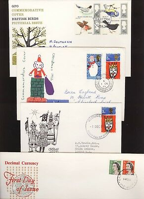 Great Britain GB 1966 FDC Four (4) covers