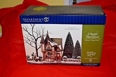 Dept 56 Dickens Village Series 1 Royal Tree Court #58506.....PREOWNED....NICE!!!