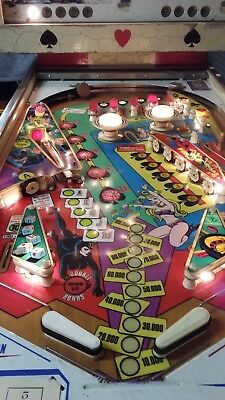 WORKING PROJECT- Pinball Machine 1976 Recel LADY LUCK