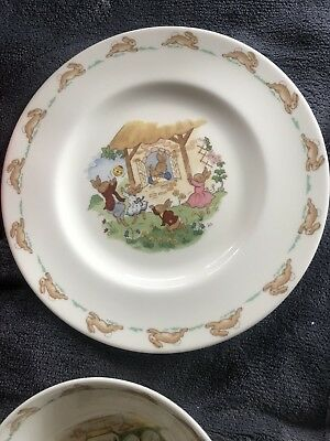 BUNNYKINS PLATE and BOWL