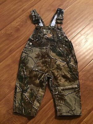 BASS PRO SHOP VGUC RealTree Toddler Overalls in Size Medium (12-18 months?)
