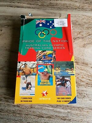 Intrepid Pride of the Nation Olympics open box with 36 unopened packs