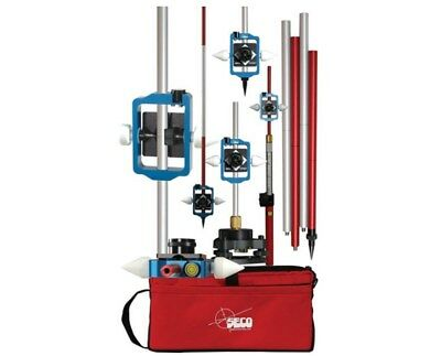 Seco Surveying Sliding Prism and Sectional Pole Kit  5910-05 Feet or Metric