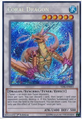 Coral Dragon TDIL-EN051 Secret Rare NM Yugioh