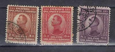 Yugoslavia 1923 King Alexander to 8d SG 189-91 Used