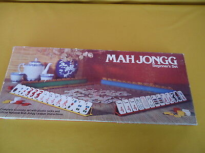 MAH JONGG Beginner's Set 1975 JOHN SANDS Excellent Near New Cond COMPLETE #5229
