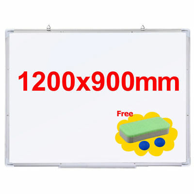 Quality Magnetic Whiteboard Teaching Office 900mm highx1200mm Wide+Free Eraser