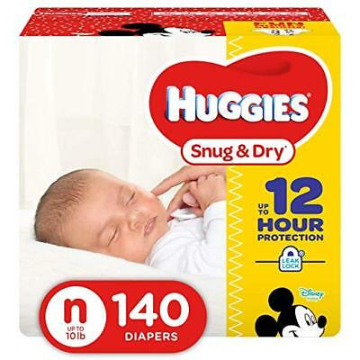 ***NEW*** Huggies Snug & Dry Diapers Size Newborn, 140 Count ***FREE SHIPPING***