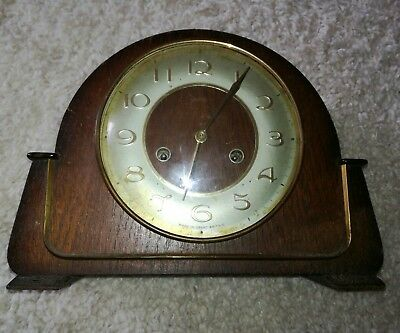 Smiths mantle clock - spares / repairs - has key