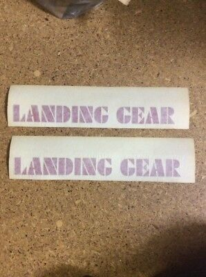 BNOS GENUINE SE RACING RED LANDING GEAR STICKERS 1980's
