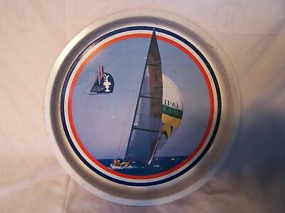Vintage America's Cup Challenge 1987 Serving Tray Sailing Boating Boats Ocean