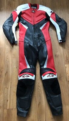 Akito Motorcycle Leather 1 piece track/racing suit TT Size 38 48 EU Small One
