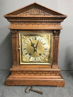 Antique Magnificent Winterhalder & Hoffmeier Ting Tang Bracket Clock Mantle -