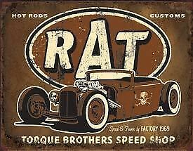 Torque Brothers Speed Shop Tin Sign New Garage Shed Ford Hotrod Rustic Ratrod