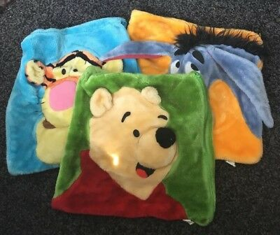 Set Of 3 Winnie The Pooh Cushion Covers.