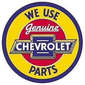 Genuine Chevrolet Parts Tin Sign New Garage Shed Hotrod Ratrod Chev Rustic