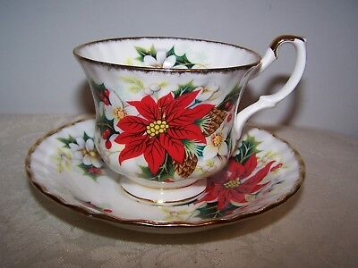 Beautiful Royal Albert Yuletide Pattern Cup And Saucer
