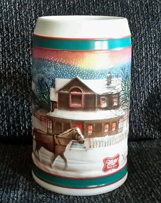 "Miller high life Holiday beer stein ""To the best Holiday traditions""6""Tall"