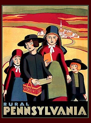 Amish Country Rural Pennsylvania United States  Travel Advertisement Poster