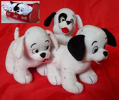101 DALMATIONS LUCKY, ROLY & PATCH SOFT PLUSH TOY SET  with CARRY BAG
