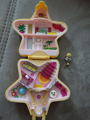 Polly Pocket Mini Hollywood Hotel gelber Stern Filmstar Spieldose Bluebird