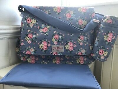 Cath Kidston Nappy Changing Bag Latimer Rose Bnwt Oilcloth