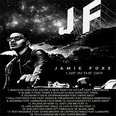 Jamie Foxx Live In The Sky Mixtape DJ Compilation Mix CD