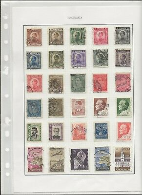 Yugoslavia Stamps - World Collection of 166 Stamps on 6 Pages  - (3336)