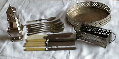 Job Lot Vintage Antique Silver Plate Epns Stainless Steel Cutlery