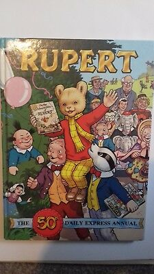 Rupert annual 1985 vintage collectable unclipped book very good 50th edition