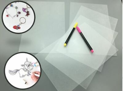 5 x shrinkable sheets, A4 format, clear-sanded-Fast Shipping-
