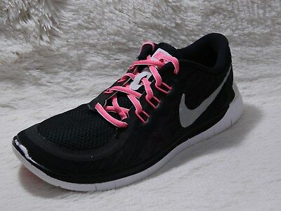 official photos fbbb0 431c7 NIKE FREE 5.0 Girls Shoes Size 6Y Running Athletic Black Pink Kids FREE S&H