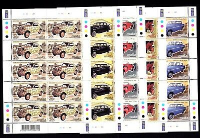 Malta 2003 Vintage Cars Complete Set in Sheets SG1289 - 1293 Unmounted Mint