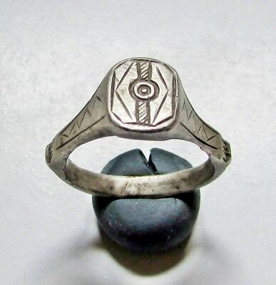 "Ancient Silver Roman  Ring "" Evil Eye """